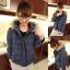 ++สินค้าพร้อมส่งค่ะ++เสื้อ jacket เกาหลี แขนยาว มี hood แต่งขนเฟอร์รอบ มี 2 สีค่ะ – สี Dark blue thumbnail 1