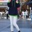 Pre Order - เสื้อกันหนาวแฟชั่น ดีไซด์สดใส : สีส้ม / สีเขียว / สีน้ำเงิน / สีเทา thumbnail 3