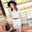 Pre Order - เสื้อแฟชั่นเกาหลี ผ้าชีฟองพิมพ์ลาย ใส่สบาย น่ารัก มีเสื้อตัวข้างในด้วย สี : สีขาว / สีดำลายดาว / สีดำลายตาราง thumbnail 1