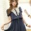 ++เสื้อผ้าไซส์ใหญ่++Qian Yi * Pre-Order* ชุดเดรสเกาหลีไซส์ใหญ่ผ้าชีฟองแขนตุีกตาแต่งด้านหน้าผ้าลูกไม้จั้มช่วงเอวมีซับในสวยมากค่ะ thumbnail 1