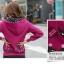++สินค้าพร้อมส่งค่++ Jacket เกาหลี แขนยาว มี hood สองชั้น ลาย น้องแมวหน้าหลังน่ารัก สีม่วง thumbnail 2