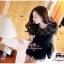 ViVi+สินค้าพร้อมส่งค่ะ++ ชุดเดรสเกาหลี สั้น คอกลม ดีไซด์เจ้าหญิง ผ้าลูกไม้ด้านหน้า ด้านหลังเป็นผ้าสีพื้น มีซับใน สวยมากค่ะ- สีดำ thumbnail 3