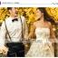 wedding ชุดแต่งงานเจ้าสาวแสนสวย โดดเด่นด้วยโบว์อันใหญ่และดอกไม้ 3มิติ ทั้งชุด thumbnail 1