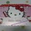 แผ่นยางรองจานทานอาหาร ฮัลโหลคิตตี้ Hello kitty#5 ขนาด 16 นิ้ว * 11 นิ้ว ลายคิตตี้หมีโบว์แดงถือแปรงสีฟัน thumbnail 2
