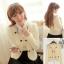 Fashion Classic++สินค้าพร้อมส่งค่ะ++เสื้อแฟชั่น cardigan เกาหลี คอกลม แขนยาว ผ้าไนล่อนเนื้อดี ดีไซด์สาวหวาน แต่งลูกปัดมุกรอบขอบลำตัว – สี Apricot thumbnail 1