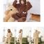 ++สินค้าพร้อมส่งค่ะ++ชุดเซ็ทน่ารัก เสื้อแขนยาว มี hood หูหมีน่ารัก ผ้าขนแกะนิ่มมาก+กางเกงขายาวเอวจั้มแบบยางยืด – สี น้ำตาลเข้ม thumbnail 4