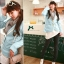++สินค้าพร้อมส่งค่ะ++ เสื้อสูท สไตล์เกาหลี เนื้อดี ดีไซด์กลาสี ปักที่กระเป๋าบนอก และมีกระเป๋าคู่ล่าง ขลิบขอบรอบตัวเสื้อ - สีฟ้า thumbnail 4