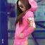 ++สินค้าพร้อมส่งค่ะ++Sport Set เกาหลี เสื้อ Jacket มี hood แขนยาว สกรีนลายด้วยดิ้นเก๋และกางเกงขายาว มี 4 สีค่ะ สีชมพู thumbnail 2