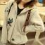 ++สินค้าพร้อมส่งค่ะ++ jacket เกาหลี แขนยาว มี hood มีซับในลายริ้วน่ารัก ผ้า cotton sweater เนื้อหนา สกรีนลายการ์ตูน - สีเทา thumbnail 8