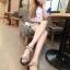 Pre Order - รองเท้าแฟชั่นเกาหลี รองเท้าแตะ เบาสบาย ส้นเตี้ย ลายเก๋ ๆ สี : สีดำ / สีน้ำตาลลายเสือ / สีขาวลายม้าลาย thumbnail 11
