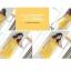 Cherry KoKo ++สินค้าพร้อมส่งค่ะ++ ชุดเดรสเกาหลี แขนกุด สไตล์คอปีนติดกระดุมที่คอเสื้อ กระดุมหน้า เดรสย้วยทรงวงกลม มีสายผูกเอว น่ารัก - สีเหลือง thumbnail 8