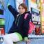 Pre Order - เสื้อกันหนาวแฟชั่น ดีไซด์สดใส : สีส้ม / สีเขียว / สีน้ำเงิน / สีเทา thumbnail 1