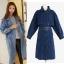 ++สินค้าพร้อมส่งค่ะ++ เสื้อ Coat แฟชั่นเกาหลี ตัวยาว ตอปก แขนยาว ผ้ายีนส์เนื้อดีมากค่ะ ดีไซด์เท่ห์ เข็มขัด 1 เส้น มี 2 สีค่ะ สี Dark Blue thumbnail 1