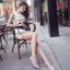 Pre Order - รองเท้าแฟชั่นเกาหลี แบบลำลอง หวาน ๆ เน้นรูปทรงเท้า สี : สีน้ำเงิน / สีเขียว / สีม่วง / สีขาว thumbnail 7