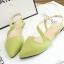 Pre Order - รองเท้าแฟชั่นเกาหลี แบบลำลอง หวาน ๆ เน้นรูปทรงเท้า สี : สีน้ำเงิน / สีเขียว / สีม่วง / สีขาว thumbnail 12