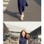 ++สินค้าพร้อมส่งค่ะ++ ชุดเดรสเกาหลี ยาว คอปก แขนกุด กระดุมหน้า จั้มเอวนิดๆ ช่วงกระโปรงพรีทยาว แต่งกระเป๋า 2 ข้าง - สี Deep Blue thumbnail 5