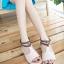 Pre Order - รองเท้าแฟชั่น ส้นเตี้ยแบน หวาน ๆ สไตล์ลำลอง สี : สีม่วง / สีชมพู / สีครีม thumbnail 6