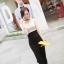God is Girl ++สินค้าพร้อมส่งค่ะ++ชุดเดรสเกาหลี คอ U แขนกุด ผ้า cotton ทรงเข้ารูป น่ารัก – สี Apricot thumbnail 1