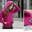 ++สินค้าพร้อมส่งค่++ Jacket เกาหลี แขนยาว มี hood สองชั้น ลาย น้องแมวหน้าหลังน่ารัก สีม่วง thumbnail 4