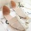 Pre Order - รองเท้าแฟชั่นเกาหลี หนัง PU สไตล์โรมัน ใส่สบาย ๆ ส้นเตี้ย สี : สีดำ / สีชมพู / สีขาว thumbnail 7