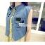 (พรีออเดอร์) เสื้อยีนส์แฟชั่น แขนกุด แต่งลายหัวกะโหลก thumbnail 4