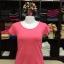 """เสื้อยืดคอกลม สีชมพูโอรส size """"M"""" thumbnail 1"""