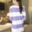 ++สินค้าพร้อมส่งค่ะ++ เสื้อcardigan เกาหลี ตัวยาว ผ้า Arcylic เนื้อแน่น ทอลายริ้ว แต่งกระดุมคู่ช่วงอก สีหวานมากค่ะ – สีม่วง thumbnail 6