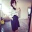 ++สินค้าพร้อมส่งค่ะ++กางเกงขาห้าส่วนเกาหลี ผ้า polyester เนื้อหนา ทรงขากว้าง มี 2 สีค่ะ สี Dark Blue thumbnail 4