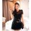 ViVi+สินค้าพร้อมส่งค่ะ++ ชุดเดรสเกาหลี สั้น คอกลม ดีไซด์เจ้าหญิง ผ้าลูกไม้ด้านหน้า ด้านหลังเป็นผ้าสีพื้น มีซับใน สวยมากค่ะ- สีดำ thumbnail 6
