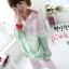 ++สินค้าพร้อมส่งค่ะ++ชุด Sport set เกาหลี เสื้อแขนยาว มี Hood เอวจั้ม +กางเกงขายาว ดีไซด์เล่นสีผ้าเก๋ มี 3 สีค่ะ - สีเขียว/ชมพู thumbnail 7