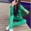 ++สินค้าพร้อมส่งค่ะ++Sport Set เกาหลี เสื้อ Jacket มี hood แขนยาว สกรีนลายด้วยดิ้นเก๋และกางเกงขายาว มี 4 สีค่ะ สีเขียว thumbnail 2