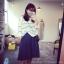 ++สินค้าพร้อมส่งค่ะ++กางเกงขาห้าส่วนเกาหลี ผ้า polyester เนื้อหนา ทรงขากว้าง มี 2 สีค่ะ สี Dark Blue thumbnail 3
