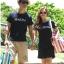 ++สินค้าพร้อมส่งค่ะ++เสื้อแฟชั่น Lover set เกาหลี ผู้ชายเสื้อยืดแขนสั้น/ผู้หญิง เดรสแขนสั้น ปักด้านหน้า MARIN - สี sapphire blue thumbnail 7