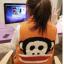 Ouremu ++สินค้าพร้อมส่งค่ะ++เสื้อ jacket เกาหลี แขนกุด กระดุมหน้า ไหมพรมซับในขนเฟอร์เก๋ ลาย Paul Frank – สีส้ม thumbnail 5