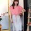 ++สินค้าพร้อมส่งค่ะ++ชุดเดรสแฟชั่นเกาหลี ชุดเดรส 2 ชั้น ชิ้นในเป็นเดรสแขนกุดตัดต่อชั้นนอกเสื้อโชว์ไหล่ รูดเอวได้ – สีชมพูอมส้ม thumbnail 2