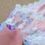Qian Yi *Pre-order*เสื้อไซส์ใหญ่ แขนตุ๊กตา คอกลมแต่งลูกไม้ จํ้มเอว ลายดอกไม้สวยหวาน - สีชมพู สีเขียว thumbnail 6