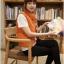 Ouremu ++สินค้าพร้อมส่งค่ะ++เสื้อ jacket เกาหลี แขนกุด กระดุมหน้า ไหมพรมซับในขนเฟอร์เก๋ ลาย Paul Frank – สีส้ม thumbnail 7