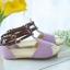 Pre Order - รองเท้าแฟชั่น ส้นเตี้ยแบน หวาน ๆ สไตล์ลำลอง สี : สีม่วง / สีชมพู / สีครีม thumbnail 8