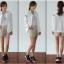 ++สินค้าพร้อมส่งค่ะ++ jacket เกาหลี แขนยาว คอกลม ผ้า polyester เนื้อดีค่ะ ดีไซด์เสื้อ basewheel มี 2 สีค่ะ – สีขาว thumbnail 3