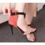Pre Order - รองเท้าแฟชั่น ส้นสูง รัดข้อหุ้มส้น เป็นหนังกำมะหยี่ สี : สีแดงน้ำตาล / สีส้ม thumbnail 1