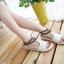 Pre Order - รองเท้าแฟชั่น ส้นเตี้ยแบน หวาน ๆ สไตล์ลำลอง สี : สีม่วง / สีชมพู / สีครีม thumbnail 3