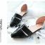 Pre Order - รองเท้าแฟชั่นเกาหลี หนัง PU สไตล์โรมัน ใส่สบาย ๆ ส้นเตี้ย สี : สีดำ / สีชมพู / สีขาว thumbnail 6