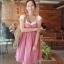 ++ สินค้าพร้อมส่งค่ะ++ชุดเดรสแฟชั่นเกาหลี 2 ชิ้น เสื้อแขนสั้น+เอี้ยมกระโปรง ลายตาราง - สีชมพูแดง thumbnail 1