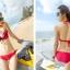 (พรีออเดอร์) ชุดว่ายน้ำ ทู พีช มีชุดคลุมเป็นเสื้อกระโปรง ลายเดียวกับชุด thumbnail 2