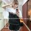 ++สินค้าพร้อมส่งค่ะ++ sport set เกาหลี เสื้อแขนสั้น สกรีน PEU ด้านหน้า เล่นสีผ้า+กางเกงขาสั้นแต่งขอบ มี 2 สีค่ะ – สีดำ/ขาว thumbnail 1