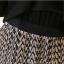 TOTO ++สินค้าพร้อมส่งค่ะ++ชุดเดรสสั้น แขนยาว คอปก ดีไซด์ผ้าชีฟองตัดต่อผ้าสีพื้นตัดต่อกระโปรงลายเส้น –-สีดำ thumbnail 9