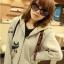 ++สินค้าพร้อมส่งค่ะ++ jacket เกาหลี แขนยาว มี hood มีซับในลายริ้วน่ารัก ผ้า cotton sweater เนื้อหนา สกรีนลายการ์ตูน - สีเทา thumbnail 4