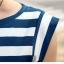 ++สินค้าพร้อมส่งค่ะ++ ชุดเดรสเกาหลี คอปาด แขนเต่อ ผ้าลายริ้ว ดีไซด์ลายริ้วเล็ก-ใหญ่ได้สวยเก๋ - สีน้ำเงิน thumbnail 7
