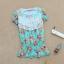 Qian Yi *Pre-order*เสื้อไซส์ใหญ่ แขนตุ๊กตา คอกลมแต่งลูกไม้ จํ้มเอว ลายดอกไม้สวยหวาน - สีชมพู สีเขียว thumbnail 9