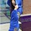 ++สินค้าพร้อมส่งค่ะ++Sport Set เกาหลี เสื้อ Jacket มี hood แขนยาว สกรีนลายด้วยดิ้นเก๋และกางเกงขายาว มี 4 สีค่ะ สีน้ำเงิน thumbnail 2